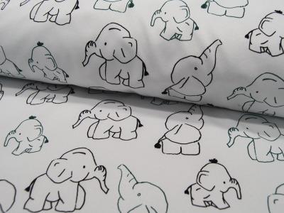 Softshell Elephants Elefanten auf Weiß Meter
