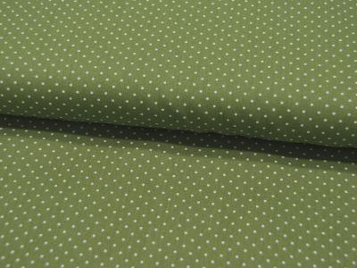 Petit Dots auf Grün- Baumwolle 05