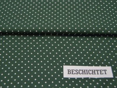 Beschichtete Baumwolle Petit Dots auf Dunkelgrün