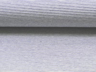 Jersey - Streifen Nachtblau - Weiss - 0.5 Meter