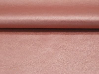 Weiches Kunstleder in Rosa Metallic Meter