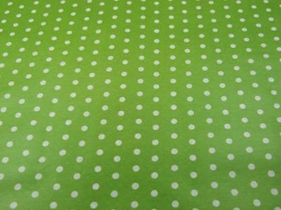 Beschichtete Baumwolle - Weiße Dots auf Lindgrün 50x70 cm