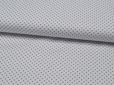 Petit Dots in Grau auf Weiß