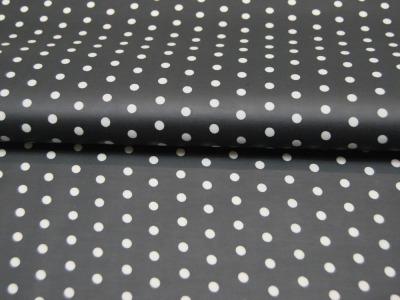 Beschichtete Baumwolle Weiße Dots auf Schwarz