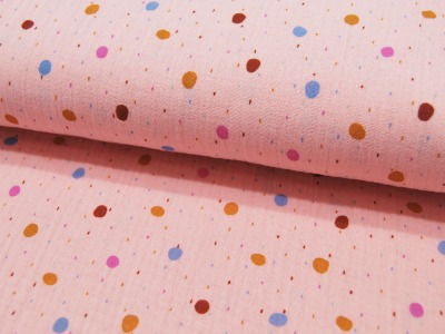 Musselin/Double Gauze Rainy Dots Punkte auf