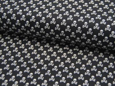 Baumwolle Mini Totenköpfe Jolly Roger auf