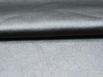 Weiches Kunstleder in Silber - 0,5 Meter - ...und kein Tier musste für dieses Leder sterben
