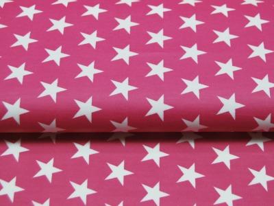 Beschichtete Baumwolle - Sterne auf Pink 50x70 cm