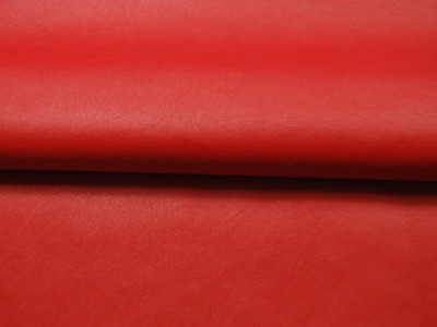 Weiches Kunstleder in Rot Meter und