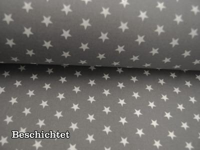 Beschichtete Baumwolle - Große Mandalas auf Grau 50 x75 cm