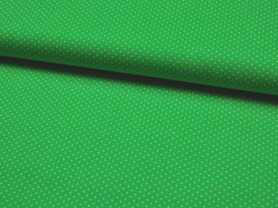 Baumwolle - Minipunkte auf Grassgrün 0,5 Meter