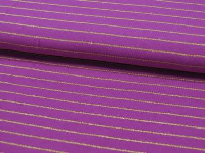 Jersey Goldene Streifen auf Lila Meter