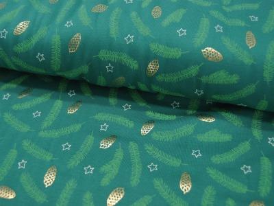 Jersey Goldene Tannenzapfen auf Grün FOIL