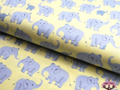 Wild Adventure - Elefantenfamilie Baumwolle - 0,5m