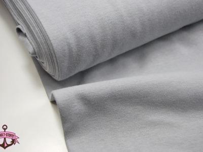 Leichtes Bündchen - Hellgrau - 50 cm im Schlauch - Elastisches, leichtes Bündchen