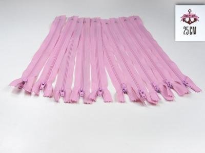 10 x 25 cm rosafarbene Reißverschlüsse - 10 Reißverschlüße im Setsonderpreis