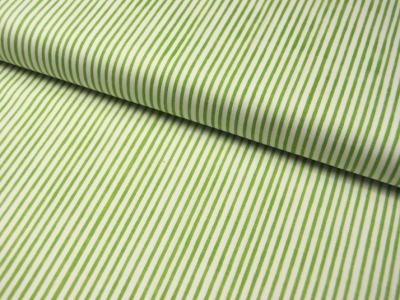 Lazy Stripes - Grüne Streifen Baumwolle 0,5 m