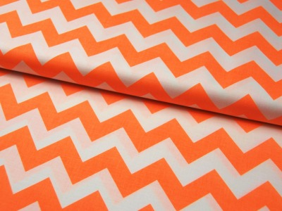 Neon Medium Chevron - Neon Orange