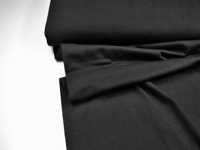 Leichtes Bündchen - Schwarz - 50 cm im Schlauch - Elastisches, leichtes Bündchen