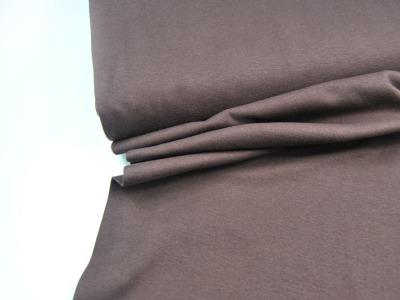 Leichtes Bündchen - Schokobraun - 50cm im Schlauch - Elastisches, leichtes Bündchen