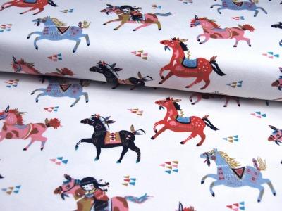 Jersey - BIO - Birch - Wild Horses - 0.5m - Oranic Cotton - zertifizierte BIO Baumwolle