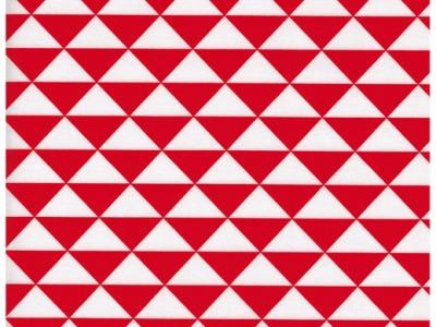 Beschichtete Baumwolle Rote Dreiecke 50x72 cm