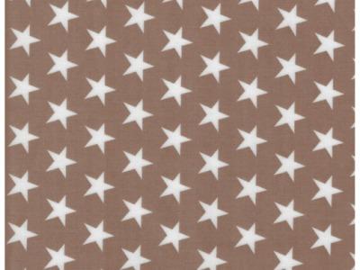 Beschichtete Baumwolle Sterne auf Beige 50x70
