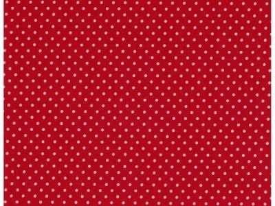 Beschichtete Baumwolle Punkte auf Rot 05m