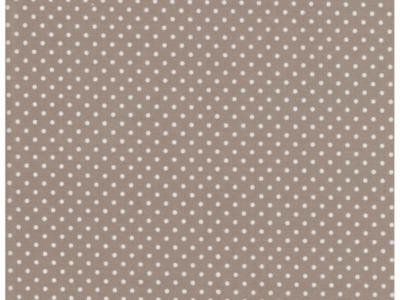 Beschichtete Baumwolle Punkte auf Beige 50x69