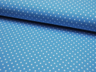 JERSEY - Hellblau mit weißen Punkten - 0,5 m