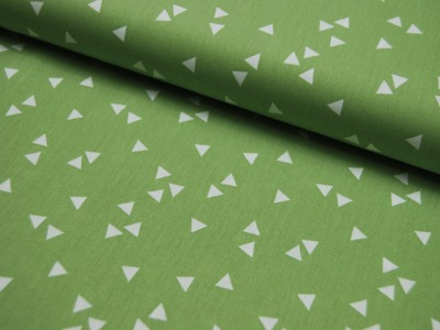 Triangle - Dreiecke auf Grün - Baumwolle 0,5m