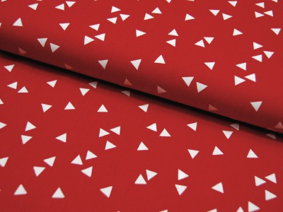 Triangle Dreiecke auf Rot Baumwolle 05m
