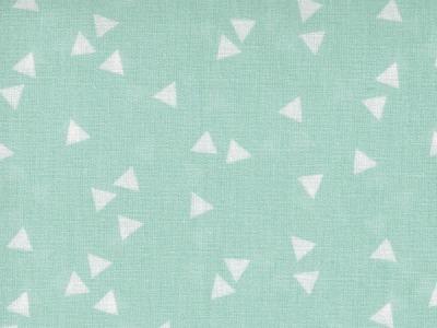 Triangle - Dreiecke auf Mint - Baumwolle 0,5m