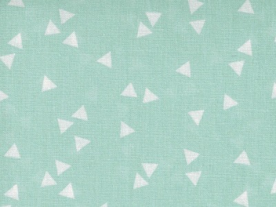 Triangle Dreiecke auf Mint Baumwolle 05m