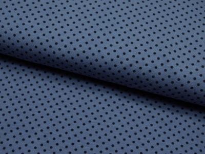 JERSEY - Jeansblau mit Nachtblauen Punkt - 0,5m