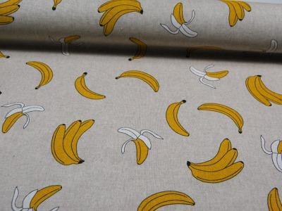Bananen auf Natur - Dekostoff - 0,5m