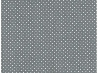 Beschichtete Baumwolle - Punkte auf Grau - 50x69cm