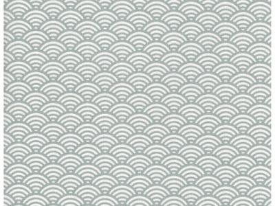 REST Beschichtete Baumwolle Wellenmuster Grau 40cm