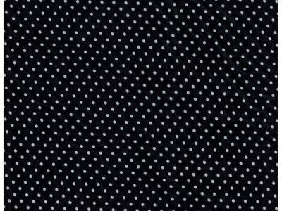 Beschichtete Baumwolle Punkte auf Schwarz 50x69cm