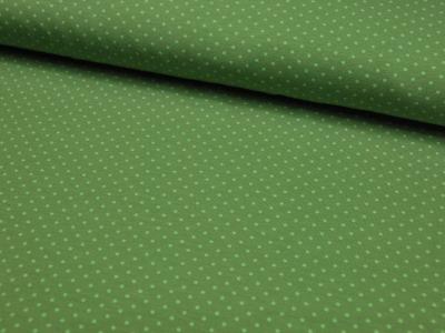 JERSEY Grün mit hellgrünen Punkten Meter