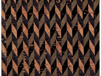 Kork mit Druck in Schwarz - Stueck 50 x 65 cm - Wunderschoenes Naturmaterial