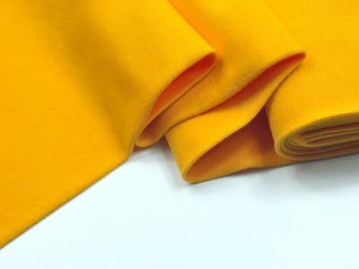 Leichtes Bündchen - Gelb - 50 cm im Schlauch - Elastisches, leichtes Bündchen