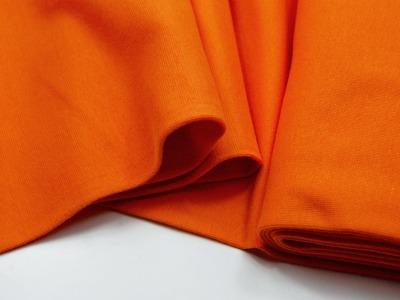 Leichtes Bündchen - Orange - 50 cm im Schlauch - Elastisches, leichtes Bündchen