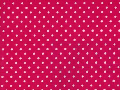 Beschichtete Baumwolle Punkte auf Pink 66x50cm