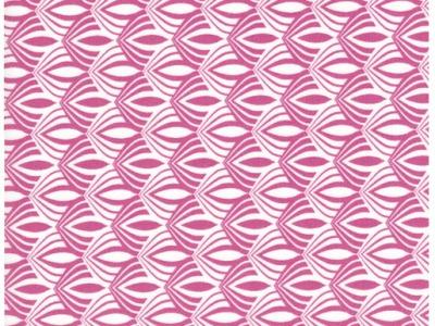 Beschichtete Baumwolle Muster in Pink 50 x 69 cm