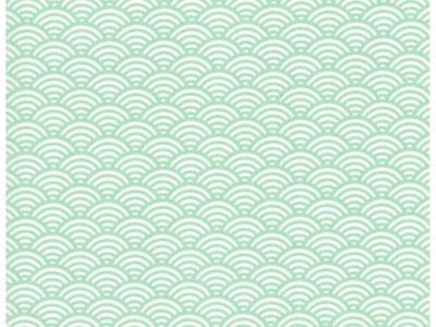 Beschichtete Baumwolle Wellenmuster Mint 50x78cm