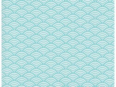 Beschichtete Baumwolle Wellenmuster Hellblau 50x78cm