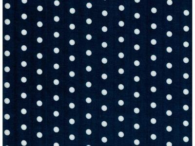 Beschichtete Baumwolle Weiße Dots auf Nachtblau 50x73cm