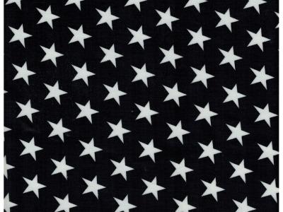 Beschichtete Baumwolle Sterne auf Schwarz 50x70 cm