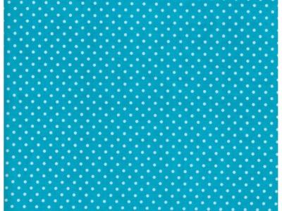Beschichtete Baumwolle Punkte auf Türkis 50x67